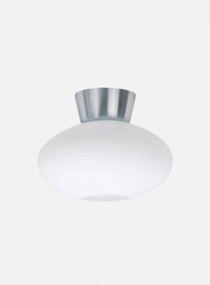 Bullo taklampe - aluminium/opal