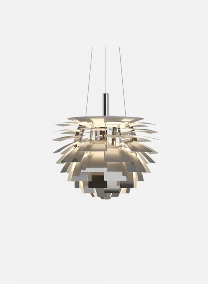 PH Kongle taklampe Ø48 - polert stål