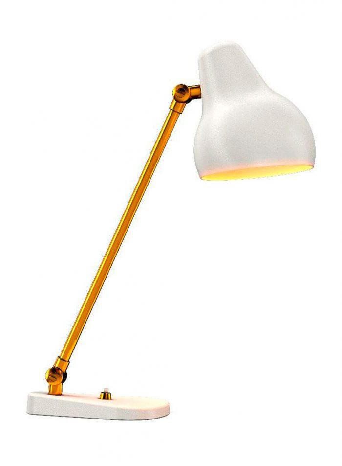 VL 38 bordlampe - hvit/messing