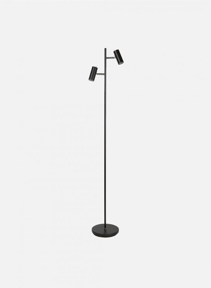 Cato LED duo gulvlampe - matt sort